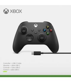 Controller Xbox Wireless + Cavo USB-C (Nero, Series X/S, One, Windows 10)