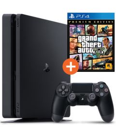 PS4 500GB SLIM (F CHASSIS) + GTA 5 (PREMIUM EDITION)