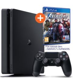 PS4 500GB SLIM (F CHASSIS) + MARVEL'S AVENGERS (BUNDLE)