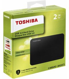 TOSHIBA - CANVIO BASICS USB 3.0 HARD DRIVE (2TB, PS4, XB1)