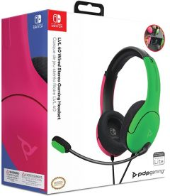 Cuffie Gaming Stereo LVL40 (Rosa/Verde, Switch, Switch Lite)