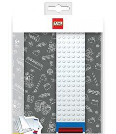 LEGO - QUADERNO CON ELASTICO COSTRUIBILE (GRIGIO, A5)