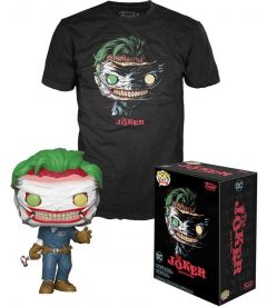 Funko Pop & Tee! DC Comics - The Joker Death Of The Family(Taglia L, Pop Glow In The Dark)