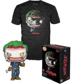 Funko Pop & Tee! DC Comics - The Joker Death Of The Family(Taglia S, Pop Glow In The Dark)