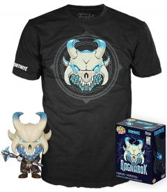 Funko Pop & Tee! Fortnite - Ragnarok (Taglia M, Pop Glow In The Dark)