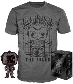 Funko Pop & Tee! DC Comics Batman Arkham Asylum - The Joker (Taglia L)