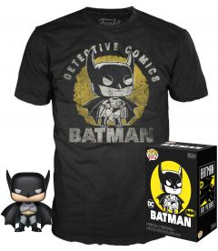 Funko Pop & Tee! DC Comics Batman 80th - Batman (Taglia M)