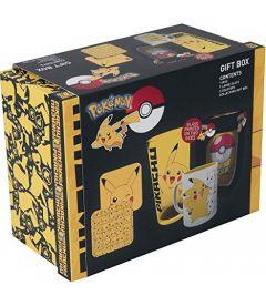Pokemon - Pikachu (Bicchiere, Tazza, 2 Portabicchiere)