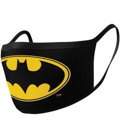 Mascherina Batman Logo (2 Pezzi, Tessuto)