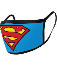 Mascherina Superman Logo (2 Pezzi, Tessuto)