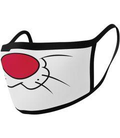 Mascherina Looney Tunes - Gatto Silvestro (2 Pezzi, Tessuto)