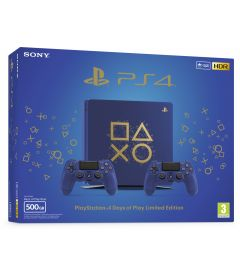 PS4 500GB SLIM+2 DUALSHOCK DAYS OF PLAY LIMIT.ED.(E CHASSIS)