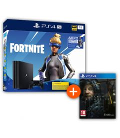 PS4 1TB PRO GAMMA + VOUCHER FORTNITE 2019 + DEATH STRANDING