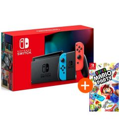 NINTENDO SWITCH V 2019 (NEON) + SUPER MARIO PARTY