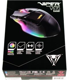 Mouse Da Gioco Laser Viper V570 RGB (Blackout Edition, PC, PS4, PS5)