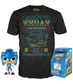 FUNKO POP & TEE! SONIC - SONIC THE HEDGEHOG (TAGLIA M)