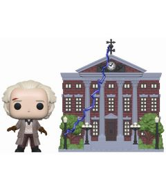 FUNKO POP TOWN! BACK TO THE FUTURE - DOC WITH CLOCK TOWER