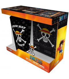 ONE PIECE - SKULL (BICCHIERE,SPILLA,NOTEBOOK A6)