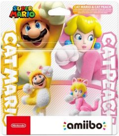 Amiibo Super Mario - Mario Gatto + Peach Gatto