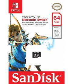 SANDISK - MICRO SDXC CARD (ZELDA, 64 GB)