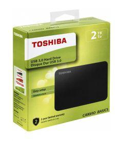 TOSHIBA - CANVIO BASICS USB 3.0 HARD DRIVE (2TB, PS4, XB1)