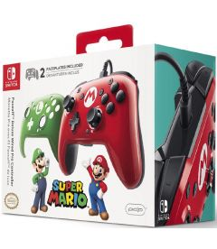 NINTENDO SWITCH PRO CONTROLLER WIRED (SKIN MARIO E LUIGI)