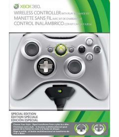 CONTROLLER WIRELESS SILVER + BATTERY PACK
