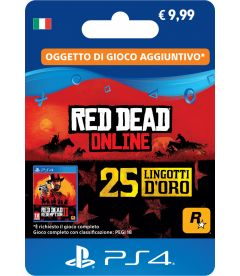 RED DEAD ON LINE - 25 LINGOTTI D'ORO