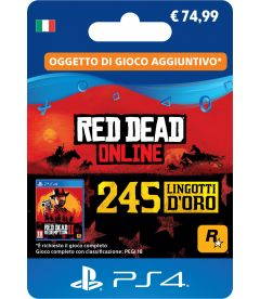 RED DEAD ON LINE - 245 LINGOTTI D'ORO