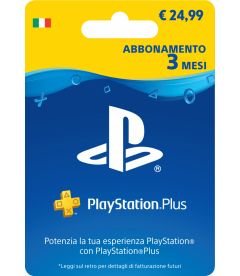 ABBONAMENTO PLAYSTATION PLUS  3 MESI