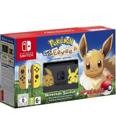 NINTENDO SWITCH + POKEMON LETS GO EEVEE + POKE BALL PLUS