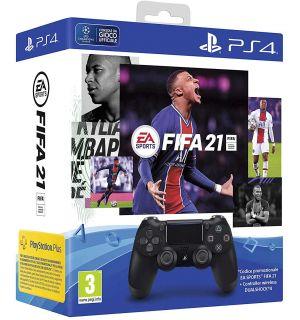 Controller DualShock 4 V2 + FIFA 21 (Jet Black)