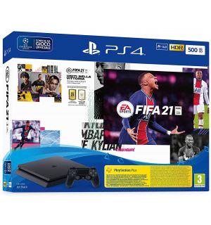 PS4 500GB Slim (F Chassis) + FIFA 21