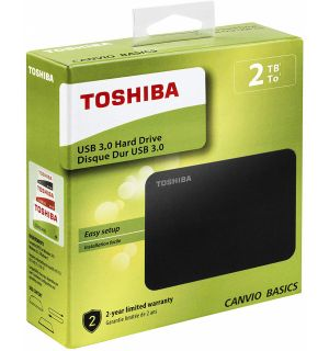 TOSHIBA - CANVIO BASICS USB 3.0 HARD DISK (2TB, PS4, XB1)