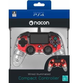 NACON WIRED COMPACT CONTROLLER (ROSSO LUMINOSO)