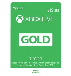XBOX LIVE GOLD 3 MESI