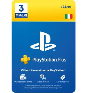 Abbonamento Playstation Plus 3 Mesi