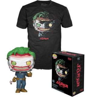 Funko Pop & Tee! DC Comics - The Joker Death Of The Family(Taglia S, Pop Glow In The Dark)