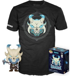 Funko Pop & Tee! Fortnite - Ragnarok (Taglia S, Pop Glow In The Dark)