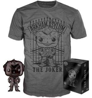 Funko Pop & Tee! DC Comics Batman Arkham Asylum - The Joker (Taglia L)