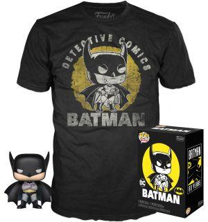 Funko Pop & Tee! DC Comics Batman 80th - Batman (Taglia M)