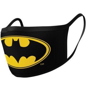 Mascherina Batman Logo (2 Pezzi, Cotone)
