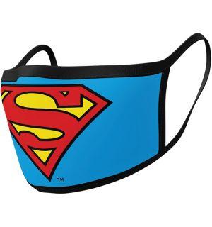 Mascherina Superman Logo (2 Pezzi, Cotone)