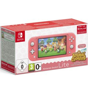 Nintendo Switch Lite (Corallo) + Animal Crossing New Horizon