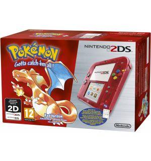 Nintendo 2DS + Pokemon Versione Rossa (Rosso Trasparente)
