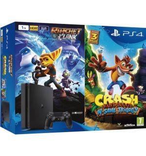 PS4 1TB Slim + Ratchet & Clank + Crash Bandicoot (E Chassis)