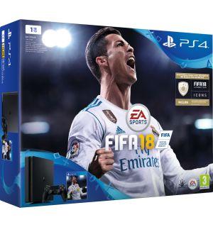 PS4 1TB Slim + FIFA 18 (E Chassis)