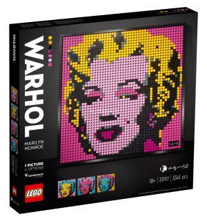 LEGO ART - ANDY WARHOL'S MARILYN MONROE