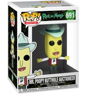 Funko Pop! Rick and Morty - Mr. Poopy Butthole Auctioneer (9 cm)