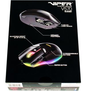 Mouse Gaming Laser Viper V570 RGB (Blackout Edition, PC, PS4, PS5)